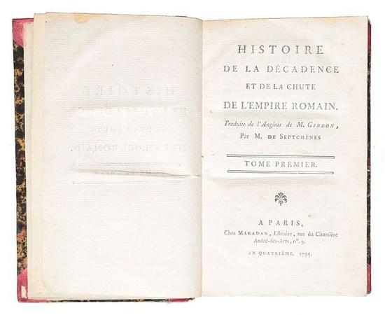 Histoire de la decadence et de la chute de l'Empire Romain (комплект из 18 книг)