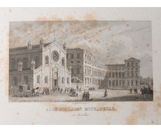 Album von Muenchen. Виды Мюнхена. Альбом с 20 гравюрами середины XIX века