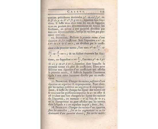 Полный курс математики. В 5 томах (полный комплект). Издание 1787 года