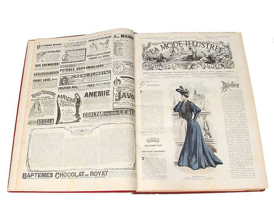 La Mode Illustree. Journal de la famille. Полный комплект с выкройками за 1905 год