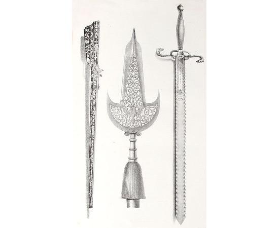 Описание старинных царских утварей, одежд, оружия, ратных доспехов и конского прибора, извлеченное из рукописей архива московской Оружейной палаты