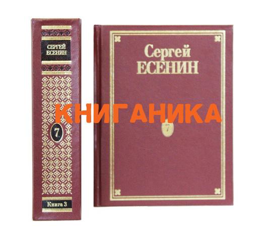 Есенин С.А. Полное собрание сочинений в 7 томах Том 7(3)